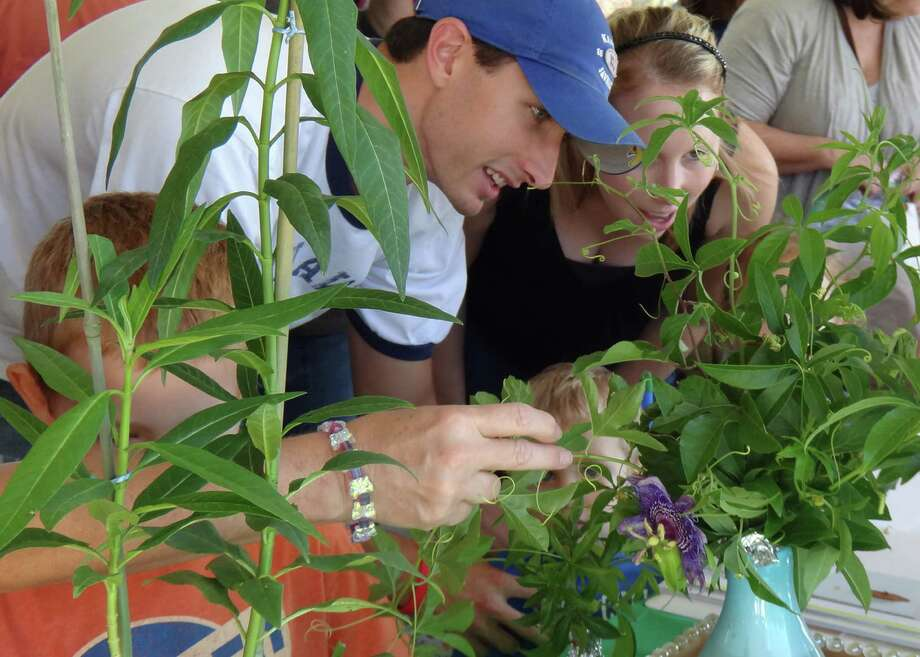 Photo Caption Residents and guests enjoy The Woodlands Wildflower Festival, set for Saturday, October 19 from 10 am – 2 pm at Rob Fleming Park in the Village of Creekside Park.  Proceeds from the official Wildflower Festival poster and tee-shirt sales benefit The Woodlands Lions Club. Photo: Courtesy