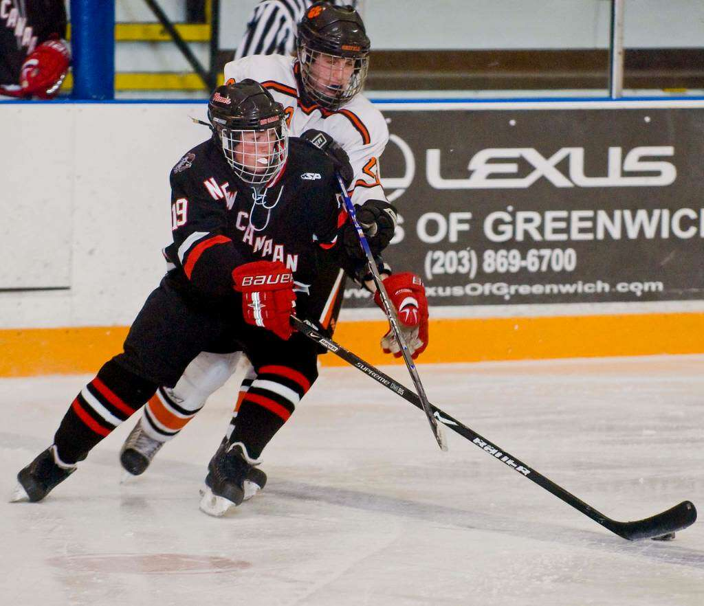 new canaan blanks ridgefield boys hockey greenwichtime