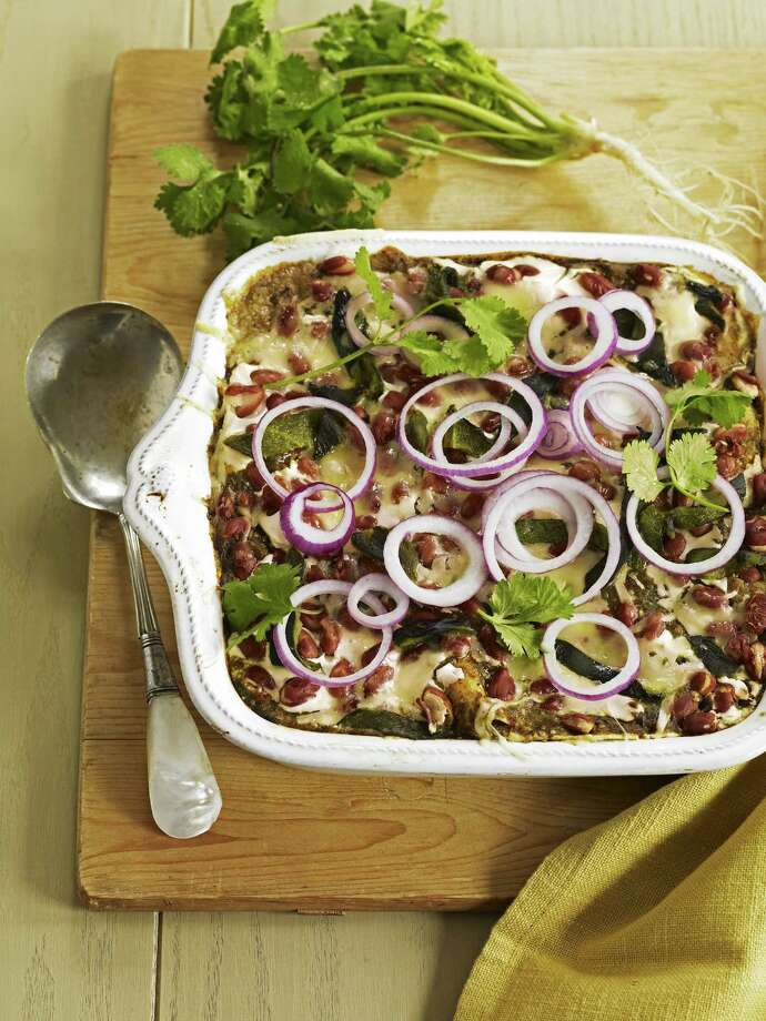 Good Housekeeping recipe for Layered Three-Bean Casserole. Photo: Kate Mathis