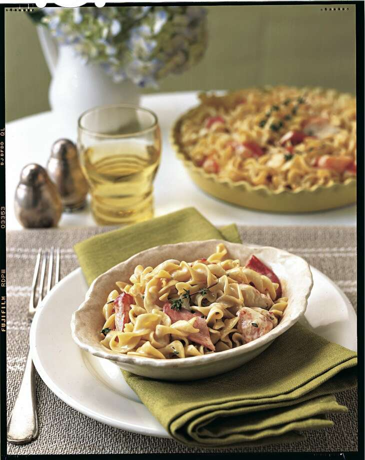 Country Living recipe for Lobster-Noodle Casserole. Photo: Ann Stratton