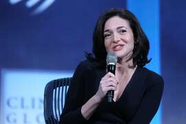 Sheryl Sandberg, chief operating officer of Facebook Inc., speaks during the annual meeting of the Clinton Global Initiative (CGI) in New York, U.S., on Tuesday, Sept. 24, 2013. CGI's 2013 theme, mobilizing for impact, explores ways that  members and organizations can be more effective in leveraging individuals, partner organizations, and key resources in their commitment efforts. Photographer: Jin Lee/Bloomberg *** Local Caption *** Sheryl Sandberg