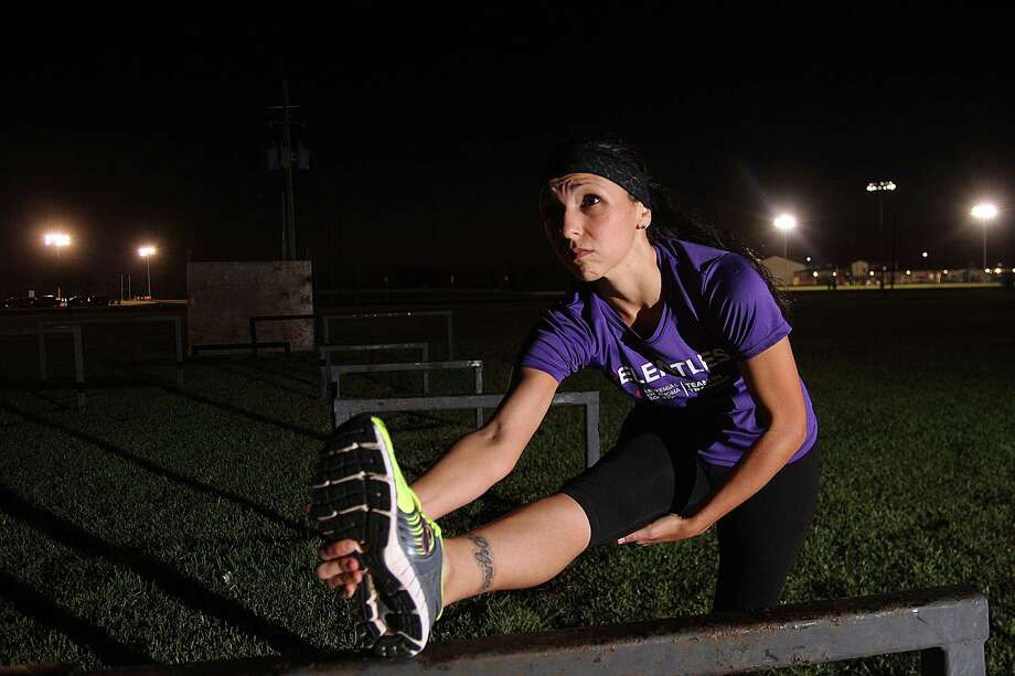 Lynda Flores trains for a marathon in November. She is raising funds for the Leukemia and Lymphoma Society in memory of her daughter, Dezma, who died from leukemia earlier this year. Photo: Pin Lim, Freelance / Copyright Pin Lim.