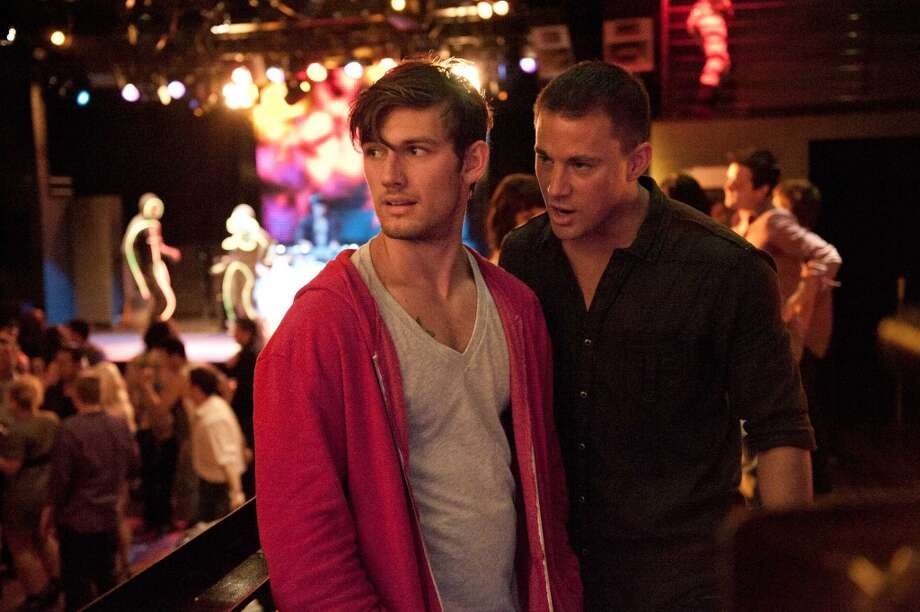 "Alex Pettyfer, left, is also no stranger to getting naked on film, which he did in ""Magic Mike"" with Channing Tatum, right. Photo: Claudette Barius, AP/Warner Bros."