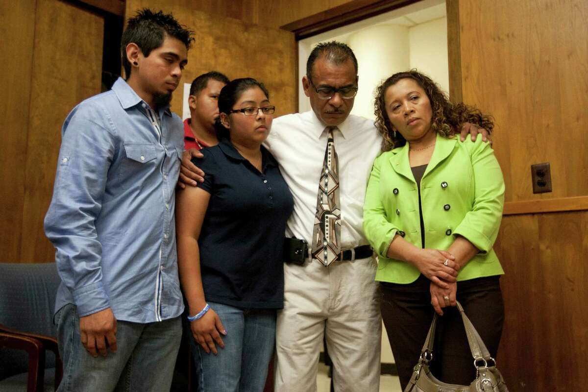 Family of Lorenzo Juan Vasquez, including his children, Andy, 21, and Ashley, 24, brother Manuel Vasquez, and his widow, Sonia, are asking for the public's help in bringing his killers to justice.