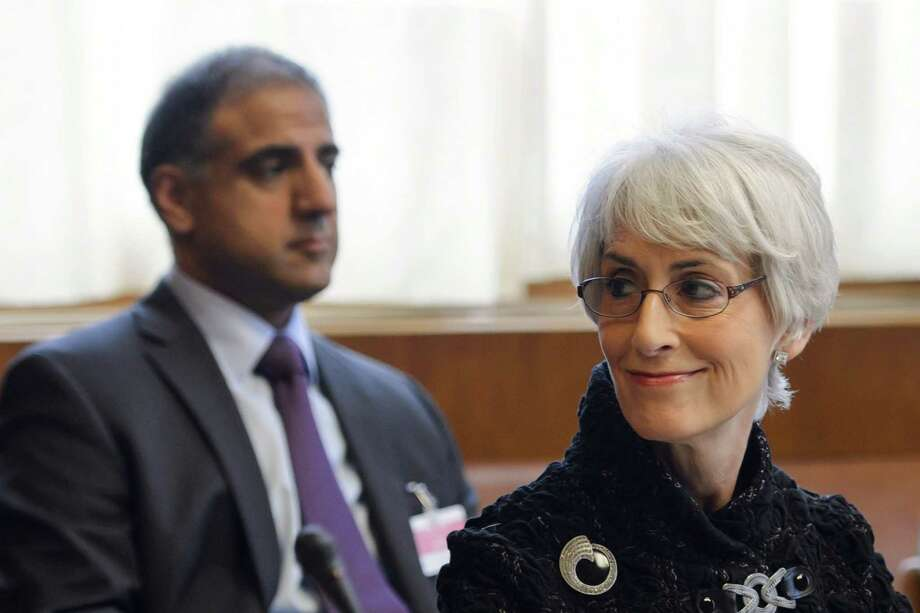 A U.S. delegation led by Wendy Sherman, a senior State Department official, met for about an hour with an Iranian team in Geneva. Photo: Fabrice Coffrini / Associated Press