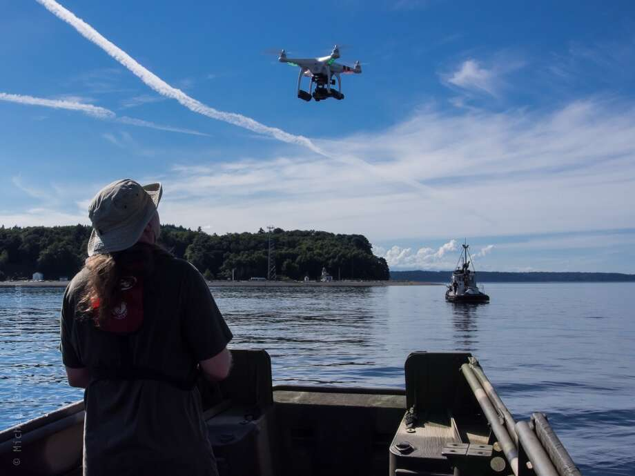 "A scene from the filming of the movie about the Maury Island UFO sighting in 1947 called ""The Maury Island Incident."" Credit: Michael Brunk / nwlens.com.  Check out the trailer for the film in the story below. Photo: Michael E. Brunk"