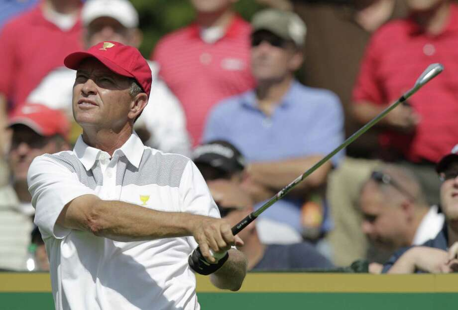 Davis Love III, competing at the recent Presidents Cup, turns 50 in April but has no plans to play any events on the Champions Tour. Photo: Jay LaPrete / Associated Press