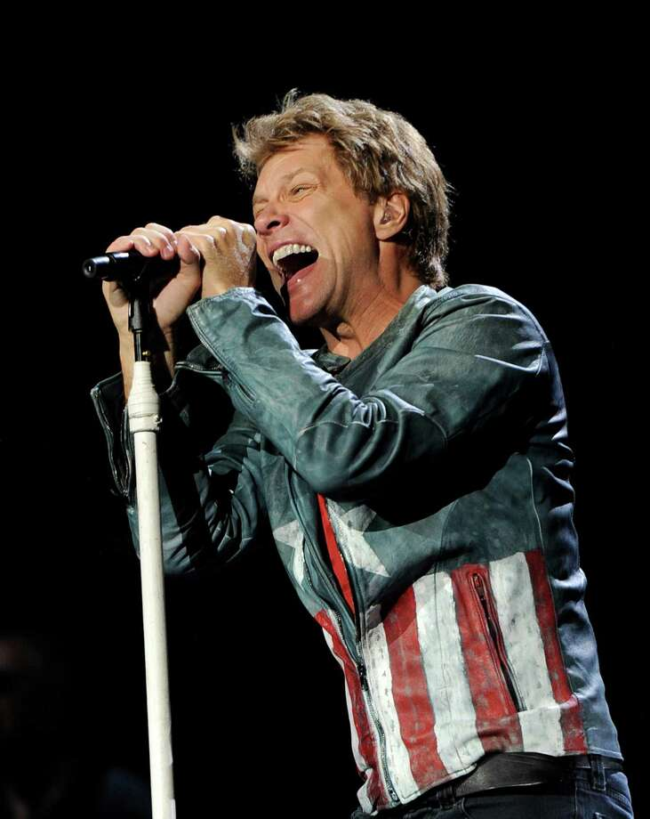 Musician Jon Bon Jovi performs at The Staples Center on October 11, 2013 in Los Angeles, California. Photo: Kevin Winter, Getty Images / 2013 Getty Images