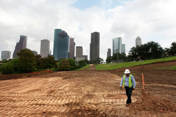 The transfor-mation of the city's Buffalo Bayou Park is underway in partnership with a non-profit group. The city is considering  a similar  arrangement with the Houston Parks Board for the  Greenways initiative.