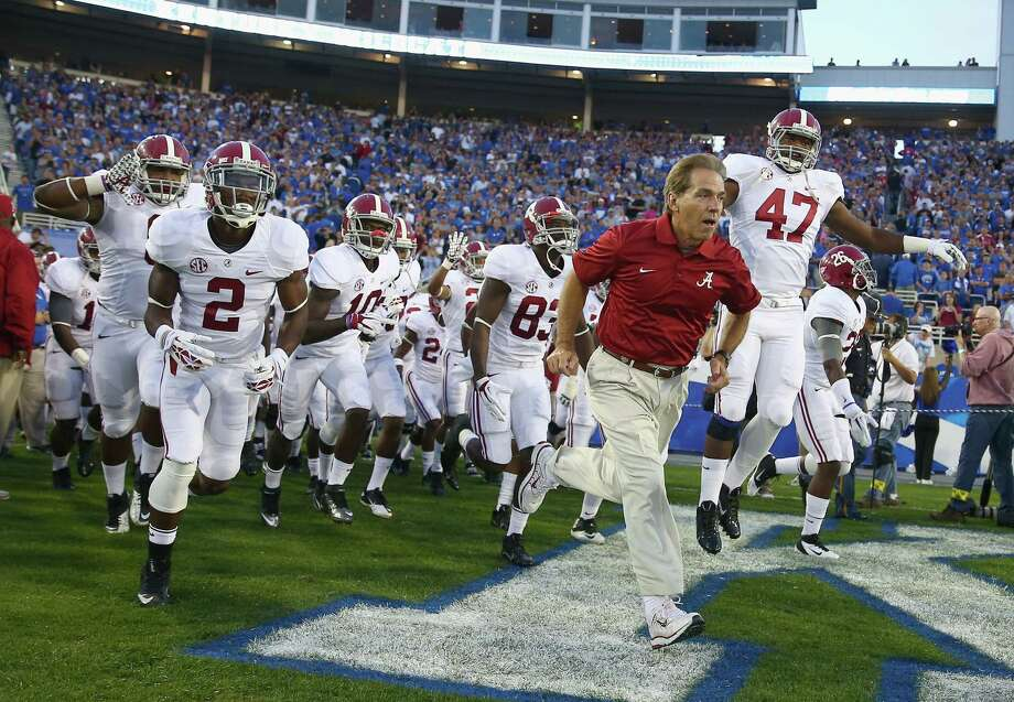 Coach Nick Saban again has defending national champion Alabama playing like the nation's best team. Photo: Andy Lyons / Getty Images