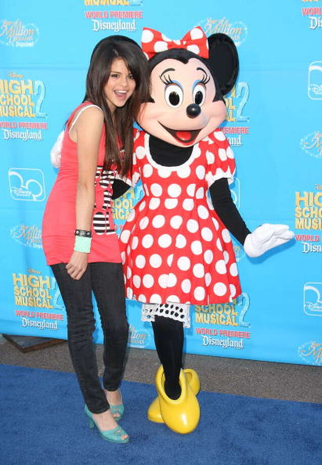 "Selena Gomez arrive at the premiere of ""High School Musical 2"" at the Downtown Disney District at Disneyland Resort in 2007 Photo: Jason Merritt, FilmMagic / 2007 FilmMagic"