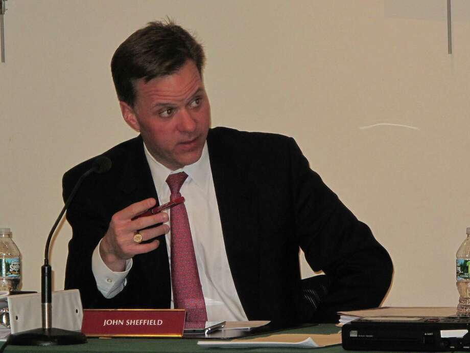 New Canaan Board of Finance member John Sheffield said pension fund investments are long-term obligations at the Oct. 8 BOF meeting. New Canaan, Conn. Photo: Tyler Woods / New Canaan News