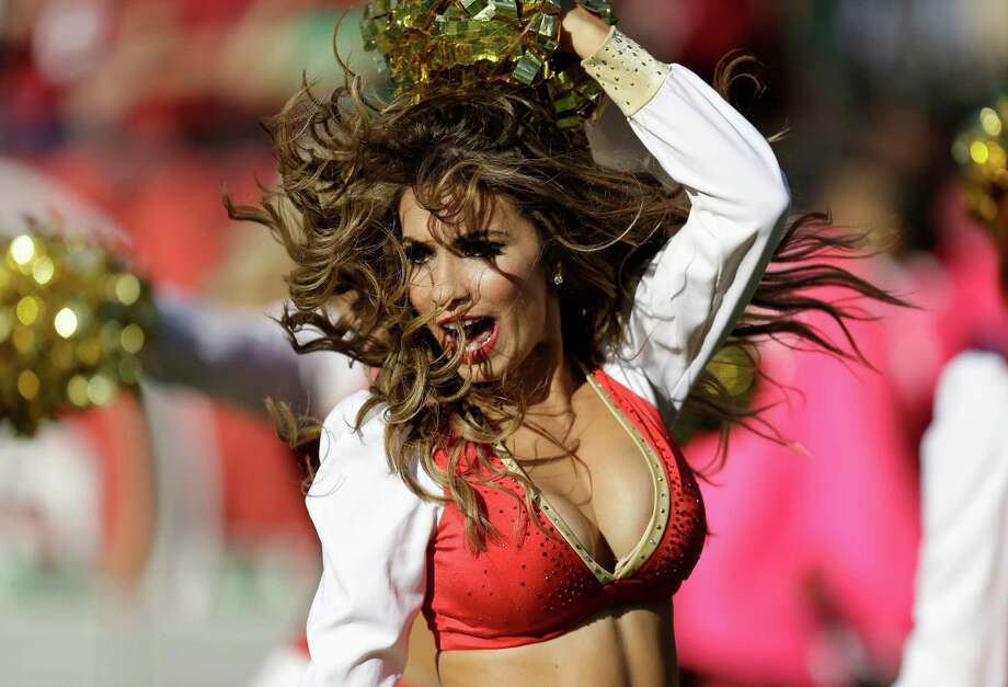 A San Francisco 49ers cheerleader performs earlier this season. (AP Photo/Ben Margot) Photo: Ben Margot, Associated Press / AP
