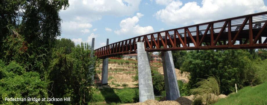 The Pedestrian Bridge at Jackson Hill Photo: Buffalo Bayou Partnership
