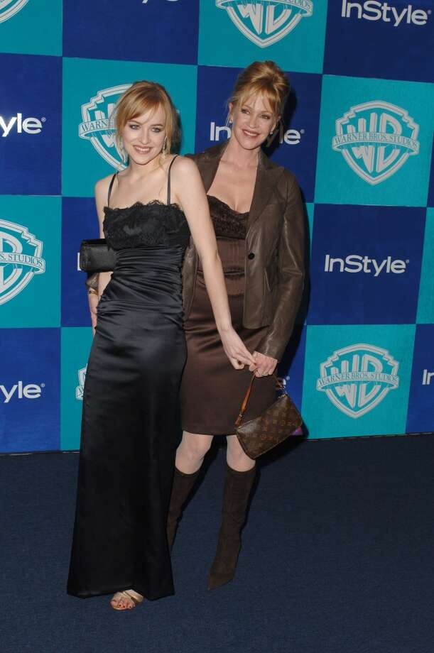 Dakota Johnson and Melanie Griffith during InStyle & Warner Bros. 2006 Golden Globes After Party - Arrivals at Beverly Hilton in Beverly Hills, California, United States. (Photo by SGranitz/WireImage) Photo: SGranitz, WireImage
