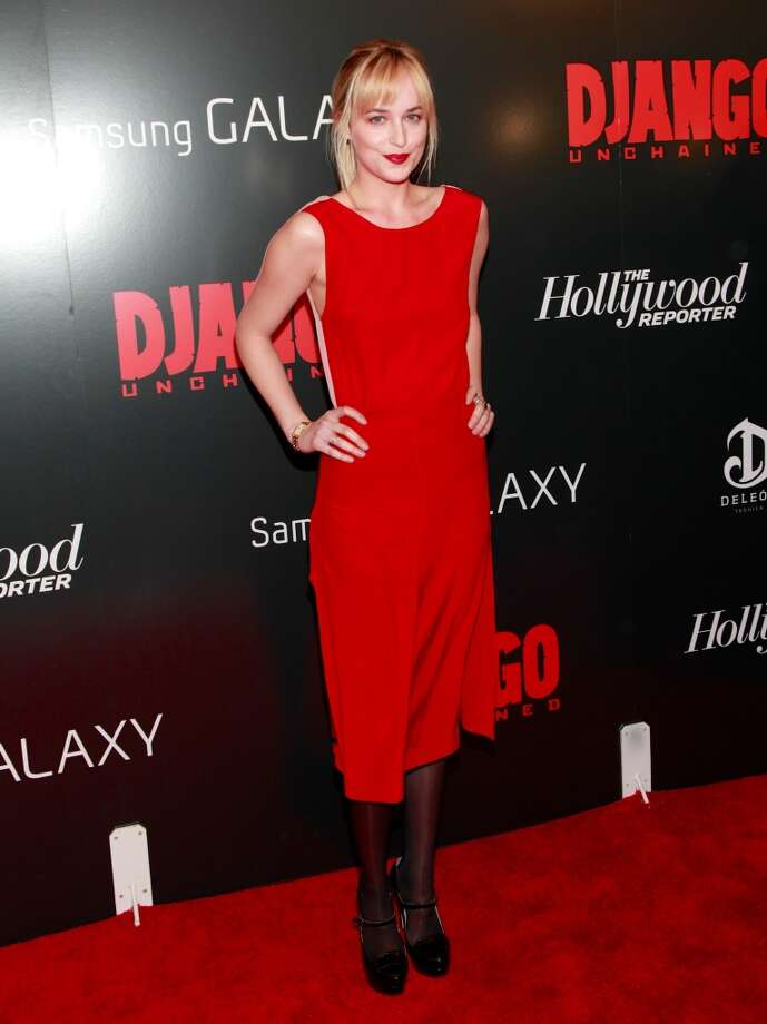 "Actress Dakota Johnson attends The Weinstein Company With The Hollywood Reporter, Samsung Galaxy And The Cinema Society Host A Screening Of ""Django Unchained""  at Ziegfeld Theater on December 11, 2012 in New York City.  (Photo by Charles Eshelman/FilmMagic) Photo: Charles Eshelman, FilmMagic"