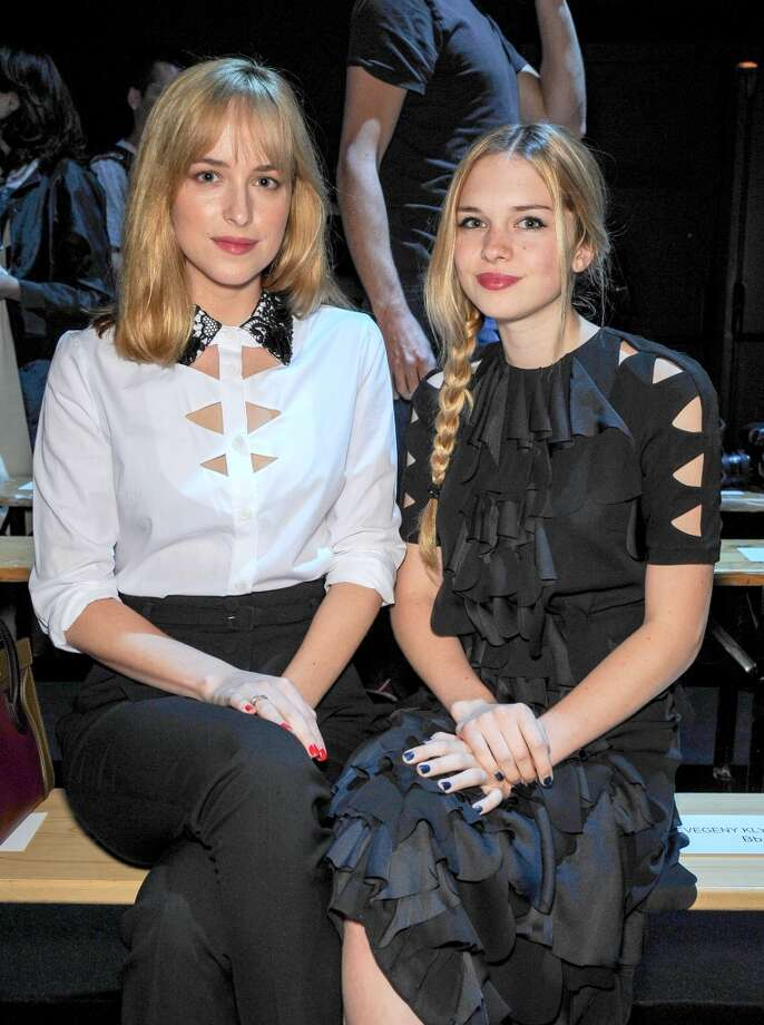 Dakota Johnson and Stella Banderas attend the Viktor&Rolf show as part of Paris Fashion Week Haute-Couture Fall/Winter 2013-2014 at la Gaite Lyrique  on July 3, 2013 in Paris, France.  (Photo by Dominique Charriau/WireImage) Photo: Dominique Charriau, WireImage