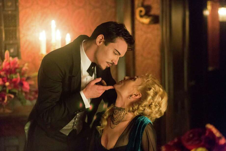 Jonathan Rhys Meyers as Alexander Grayson/Dracula  charms many a woman, including Lady Jayne Wetherby (Victoria Smurfit), in NBC's new series about the horror legend. Photo: NBC, Jonathon Hession/NBC / 2013 NBCUniversal Media, LLC