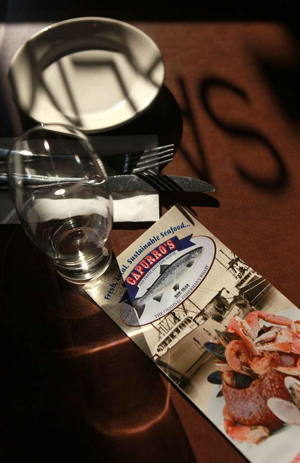 Table setting at Capurro's in San Francisco. Photo: Liz Hafalia, The Chronicle