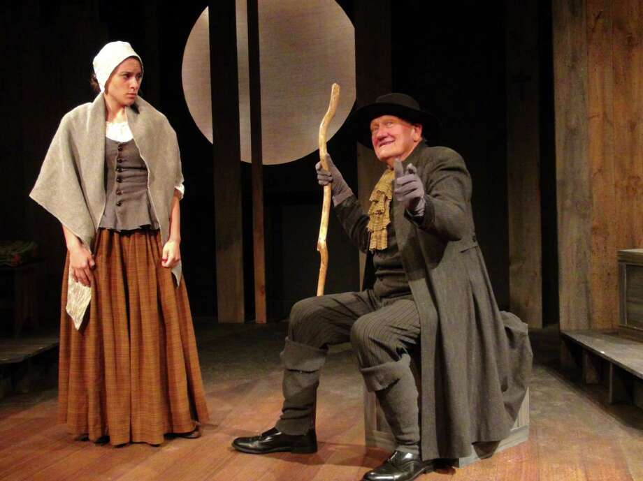 Beth Pietrangelo and John Noble star in the Curtain Call Theatre's production of  Abigail / 1702, on stage from Oct. 18 to Nov. 16, 2013. (Kevin Gardner)