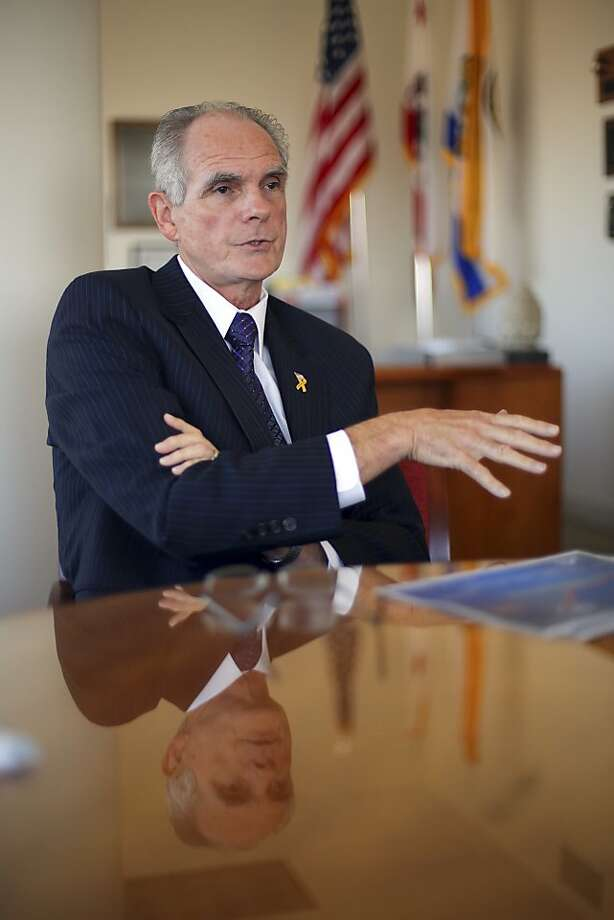 San Jose Mayor Chuck Reed wants to reduce public employee pensions. Photo: Jim Wilson, New York Times