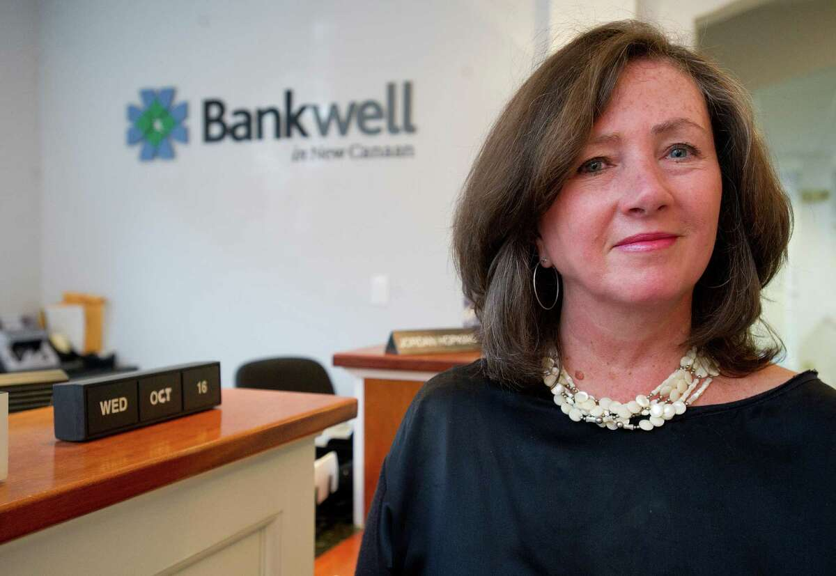 Peyton Patterson, CEO of Bankwell in New Canaan, Conn., poses for a photo on Wednesday, October 16, 2013.