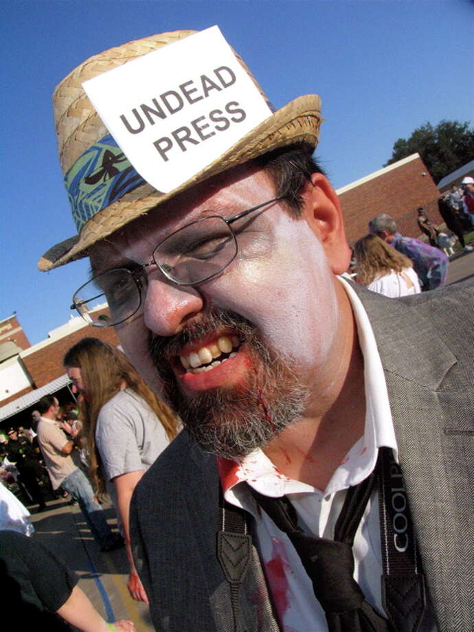 Bill Pora at Zombie Walk, Oct. 22, 2011 Photo: Jordan Graber