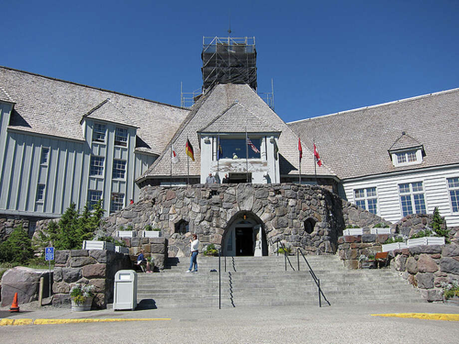 "The Shining: The Timberline Lodge was the hotel featured in ""The Shining,"" but it was hundreds of miles away from the hotel that inspired Stephen King. Since the iconic movie came out, the Oregon hotel been a popular place for fans to visit. (Photo: Scott Beale / Laughing Squid)  Photo: Scott Beale / Scott Beale"