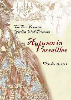 The San Francisco Garden Club's annual benefit. Autumn in Versailles takes place on Monday, October 21.