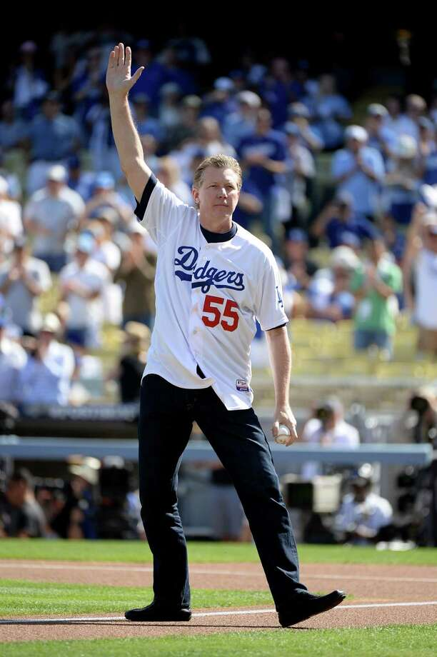 LOS ANGELES, CA - OCTOBER 16:  Orel Hershiser reacts before he throws out the ceremonial first pitch before the Los Angeles Dodgers take on the St. Louis Cardinals in Game Five of the National League Championship Series at Dodger Stadium on October 16, 2013 in Los Angeles, California. Photo: Harry How, Getty Images / 2013 Getty Images