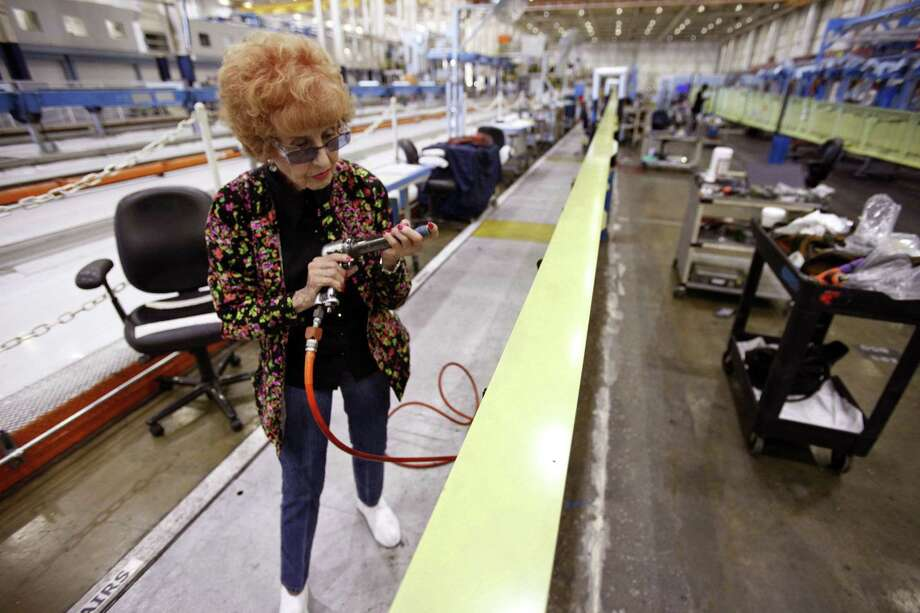 Wing mechanic Elinor Otto, 93, prepares to rivet a wing while working at Boeing in Long Beach, Calif. She is proof that the older generation has plenty to offer. Photo: Genaro Molina / Los Angeles Times