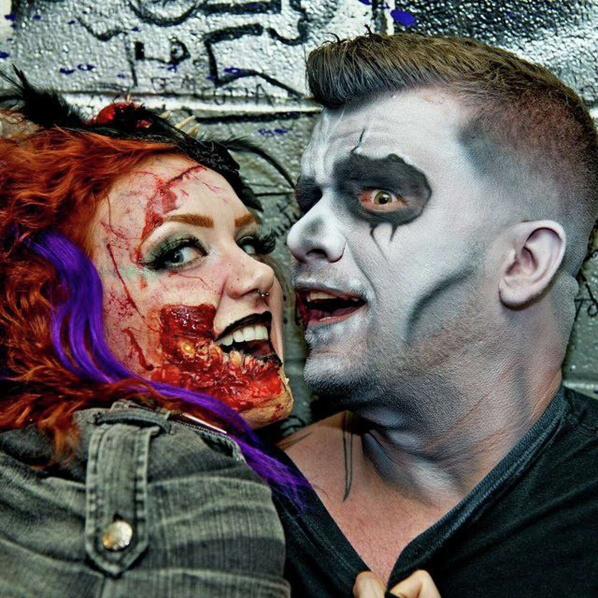 Darren Tompkins, founder of the Houston Zombie Walk, and friend.