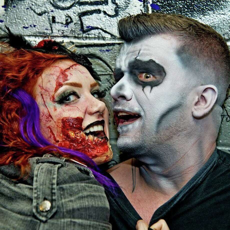 Darren Tompkins, founder of the Houston Zombie Walk, and friend. Photo: Handout