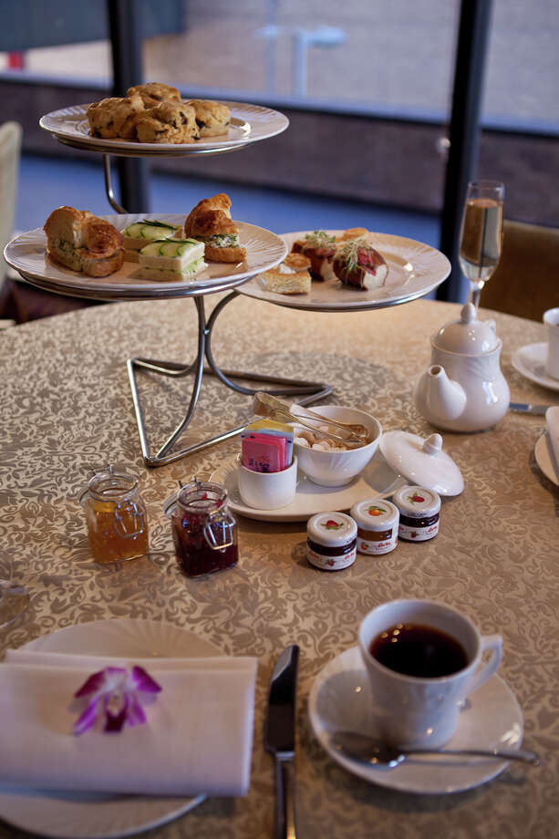 "Four Seasons Hotel Houston Afternoon tea served from 2-4 p.m., $36 per person for both a traditional and a ""Texan"" menu. Photo: Photographer: Eric Sauseda / Copyright: Groovehouse Photography"
