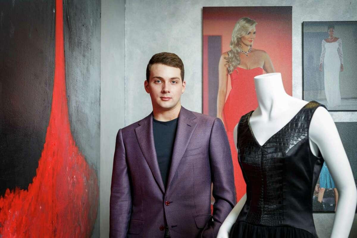 """Houston designer Jonathan Tinkle poses for a photo in his design studio named """"Jonathan Blake"""", Wednesday, Oct. 2, 2013, in Houston. ( Michael Paulsen / Houston Chronicle )"""