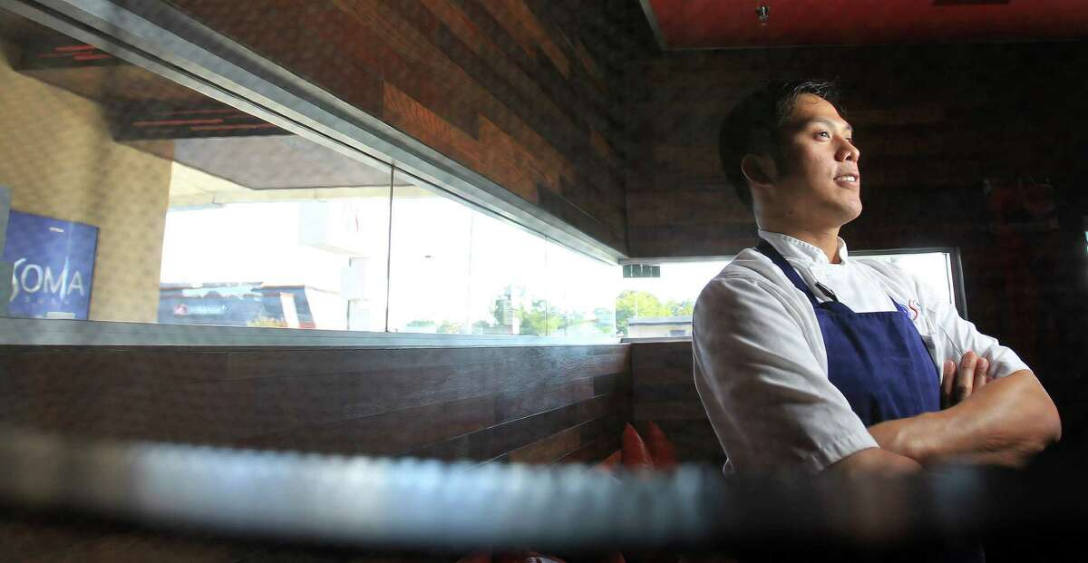 "Mark Gabriel ""Gabe"" Medina, co-exec chef of Soma Sushi on Washington, Wednesday,Oct. 9, 2013, in Houston. ( Karen Warren / Houston Chronicle )"