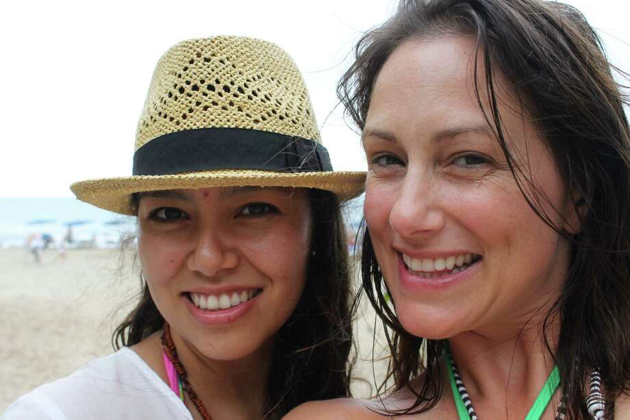 Jessica Clemente and Siobhan Higgins on the beach in Sayulita, a surfing village near Punta Mita on the Riviera Nayarit, Mexico. Photo: Melissa Ward Aguilar / ONLINE_YES