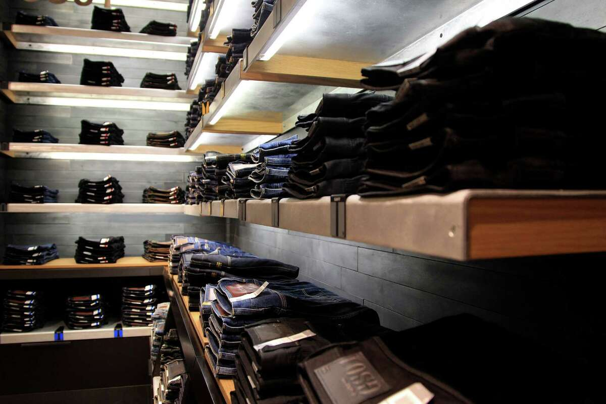 The 3301 jeans on display at G-Star RAW, a Dutch designer clothing company that produces denim clothing at their new location in the Galleria, Friday, Oct. 11, 2013, in Houston. ( Karen Warren / Houston Chronicle )