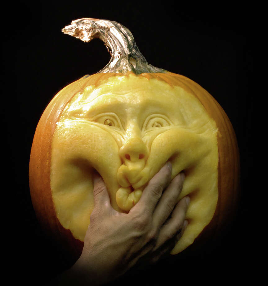 A 3D pumpkin sculpture from Villafane Studios. Photo: Villafane Studios