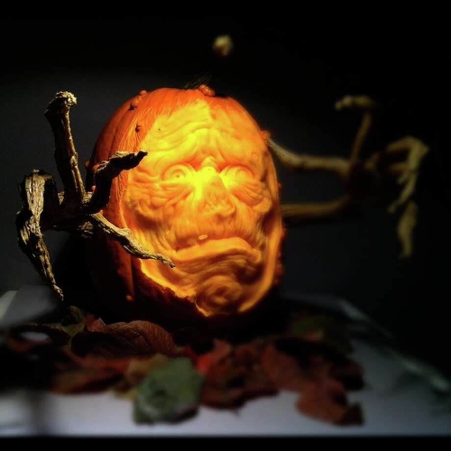 A 3D pumpkin sculpture by Alfred Paredes