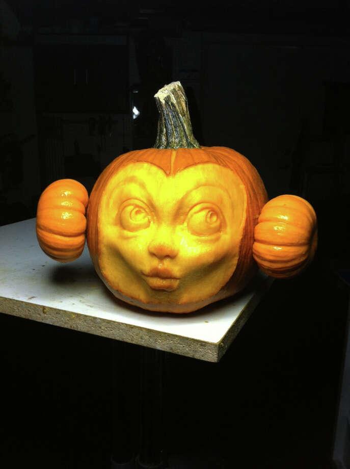A 3D pumpkin sculpture by Alfred Paredes