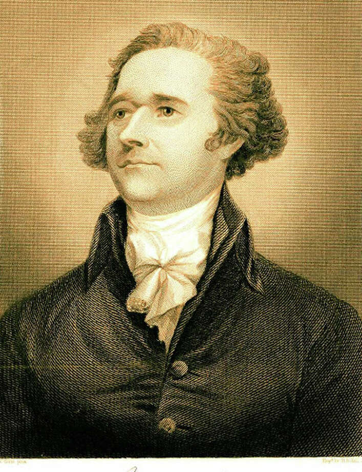 An exhibit of the life of Alexander Hamilton, first Secretary of the U.S. Treasury, includes reproduced paintings, engravings, correspondence and financial documents from the Library of Congress archives. The exhibit opens Oct. 27 at the Pequot Library. Photo: Contributed Photo / Fairfield Citizen
