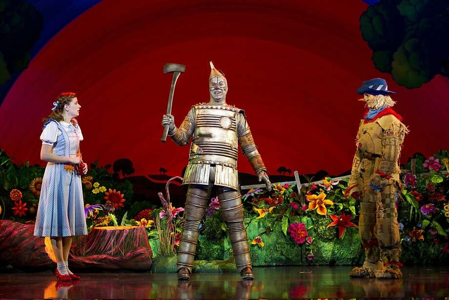 "Danielle Wade plays Dorothy, Mike Jackson is the Tin Man and Jamie McKnight is the Scarecrow in ""The Wizard of Oz"" at the Orpheum Theatre. Photo: Cylla Von Tiedemann"