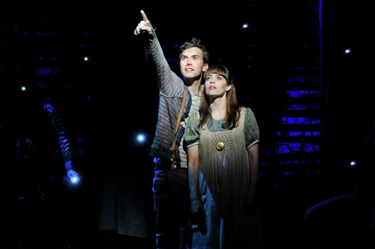 """(L to R) Joey deBettencourt and Megan Stern from the """"Peter and the Starcatcher"""" Tour Company; Photo by Jenny Anderson"""