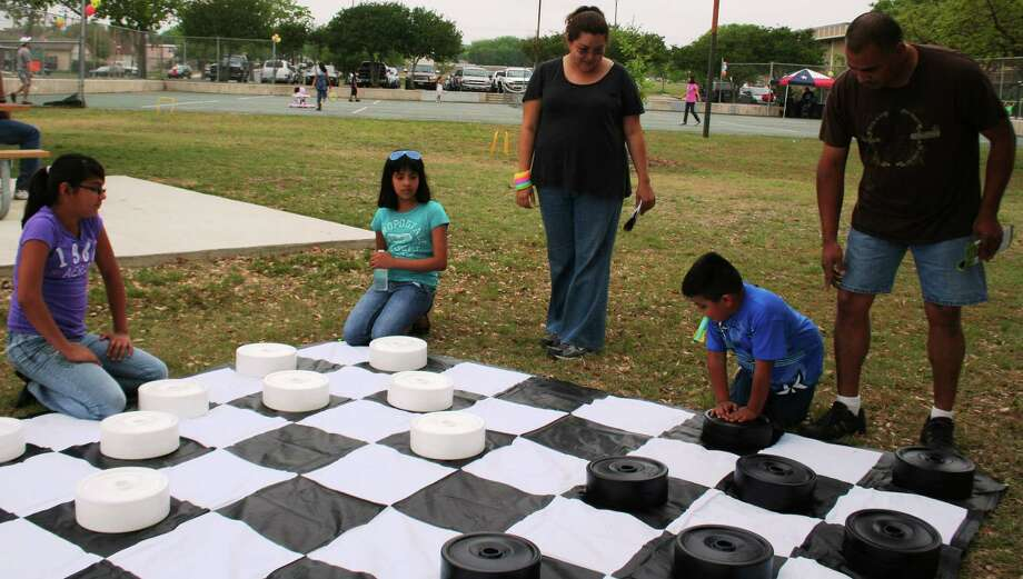 A giant checkerboard was one of the attractions at the Doggone Active Family Fun Day in 2011. Photo: Courtesy Photo