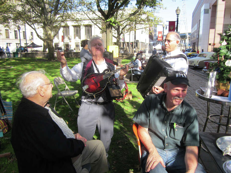"Stolling Italian performers are part of ""Cars & Cannoli,"" a show of vintage and custom autos, motorcycles and bicycles on Saturday, Oct. 26, in downtown Bridgeport. Photo: Contributed Photo / Connecticut Post Contributed"