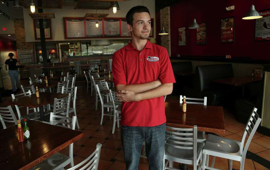 Justin Trahan, manager of Bullritos in Clear Lake, had few customers Wednesday. Like other area businesses, much of his clientele works at NASA. Photo: Karen Warren, Staff / © 2013 Houston Chronicle
