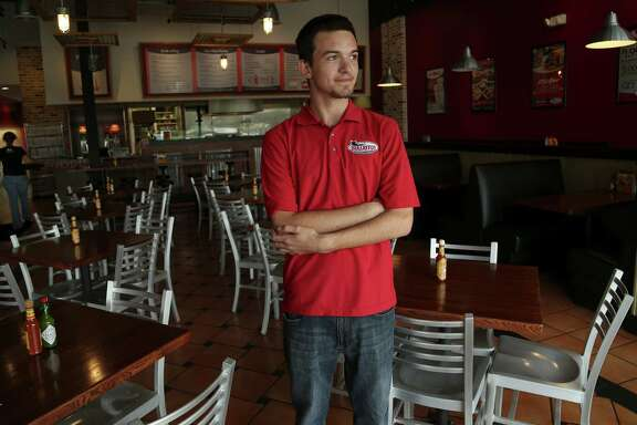 Justin Trahan, manager of Bullritos in Clear Lake, had few customers Wednesday. Like other area businesses, much of his clientele works at NASA.
