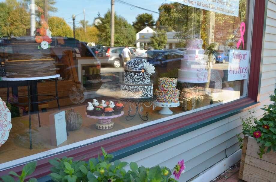 "Cake display at ""Cakes Next Door"" Photo: Audrey Goodemote"