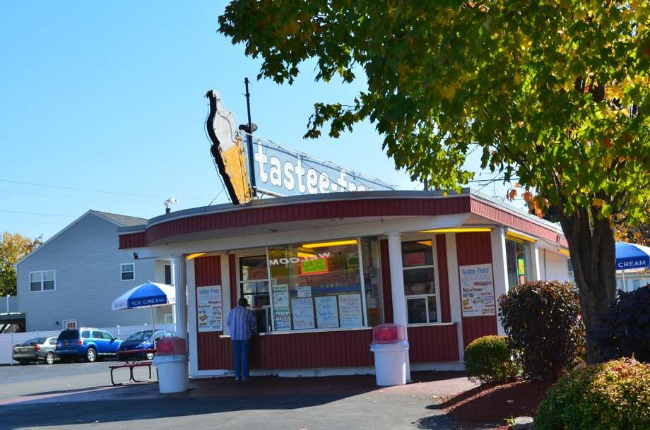 Picture of where you order your ice cream, Jim's Tastee Freeze also has outdoor seating. Photo: Audrey Goodemote